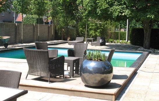 L r tuinen totaalconcept voor uw tuin - Zwarte voering voor zwembad ...